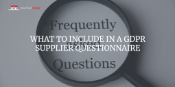 GDPR SUPPLIER QUESTIONNAIRE